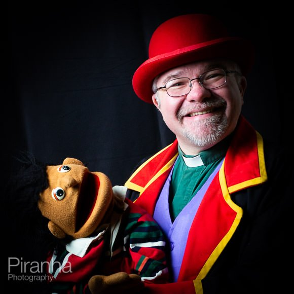 Photograph of clown taken in London