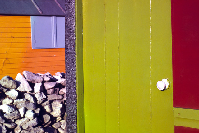 Photograph of beach hut on Portland