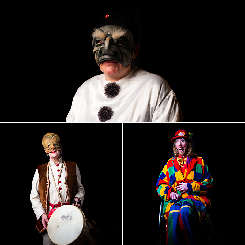 Clowns photographed in London