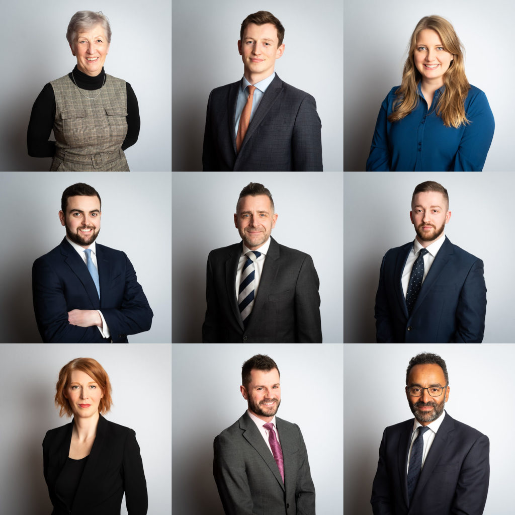 headshot photographs of barristers