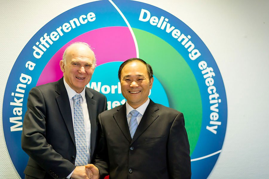 Chairman Li with Vince Cable for Geely
